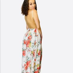Dress Day Dresses - DressDay Floral Maxi Dress with Back out